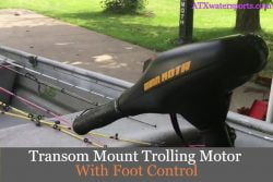 transom mount trolling motor with foot control